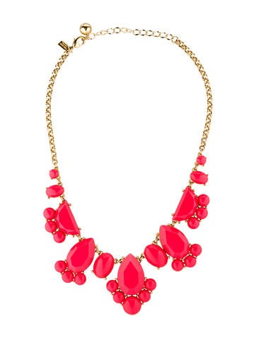 Coral Resin Statement Necklace