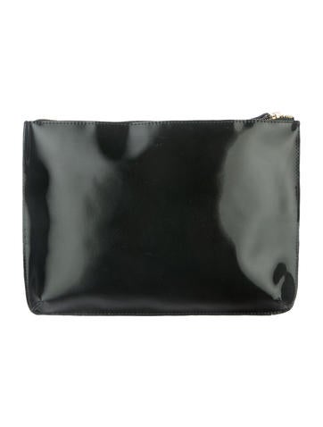Midnight Holographic Clutch