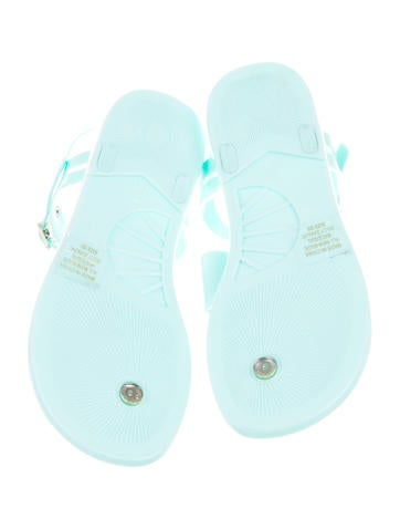 Jelly Bow Thong Sandals
