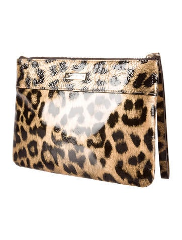 Leopard Print Bow Clutch