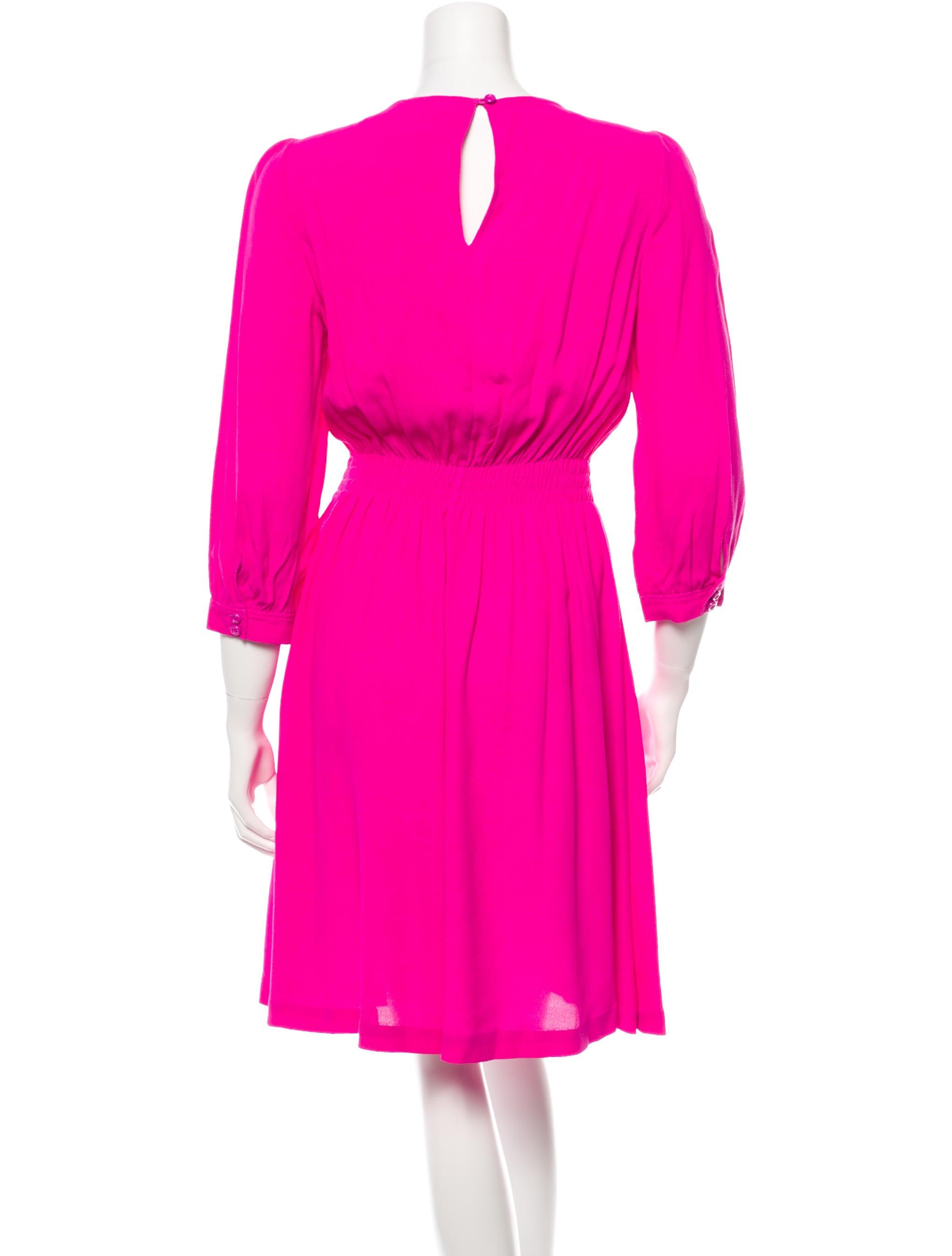Kate Spade New York Pleated Long Sleeve Dress Clothing