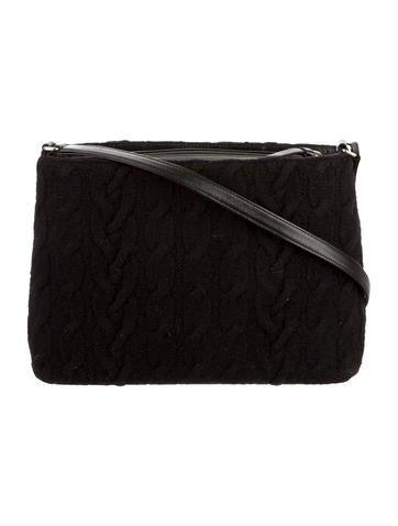 Cable Knit Shoulder Bag