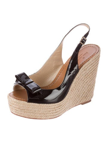 Patent Leather Slingback Wedges