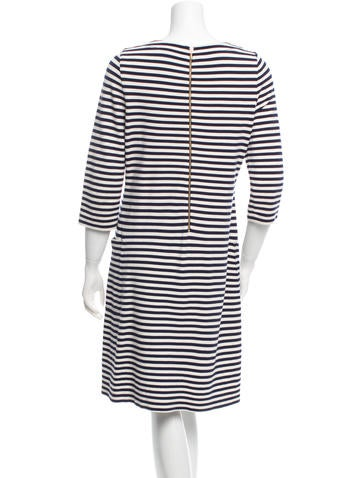 Striped Knee-Length Dress