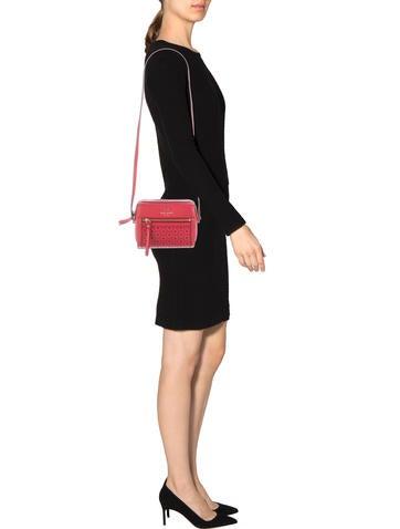Lasercut Leather Crossbody Bag