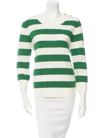 Kate Spade New York Striped Scoop Neck Sweater None