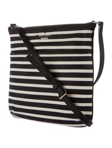 Leather-Trimmed Nylon Crossbody Bag