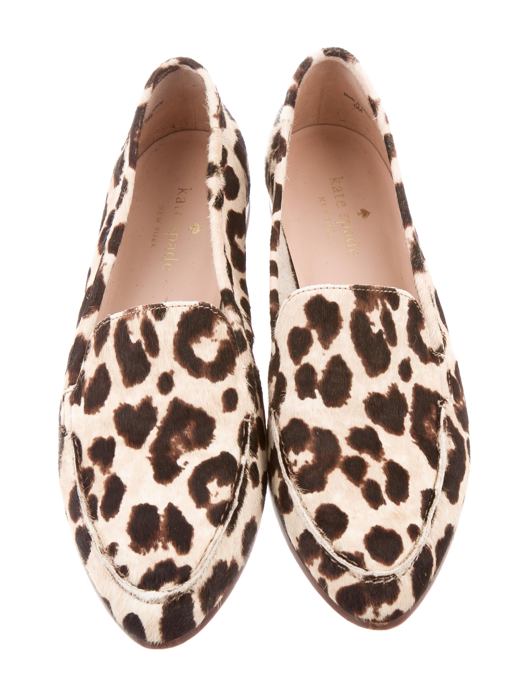 Round Kitchen Tables Kate Spade New York Leopard Print Ponyhair Loafers Shoes