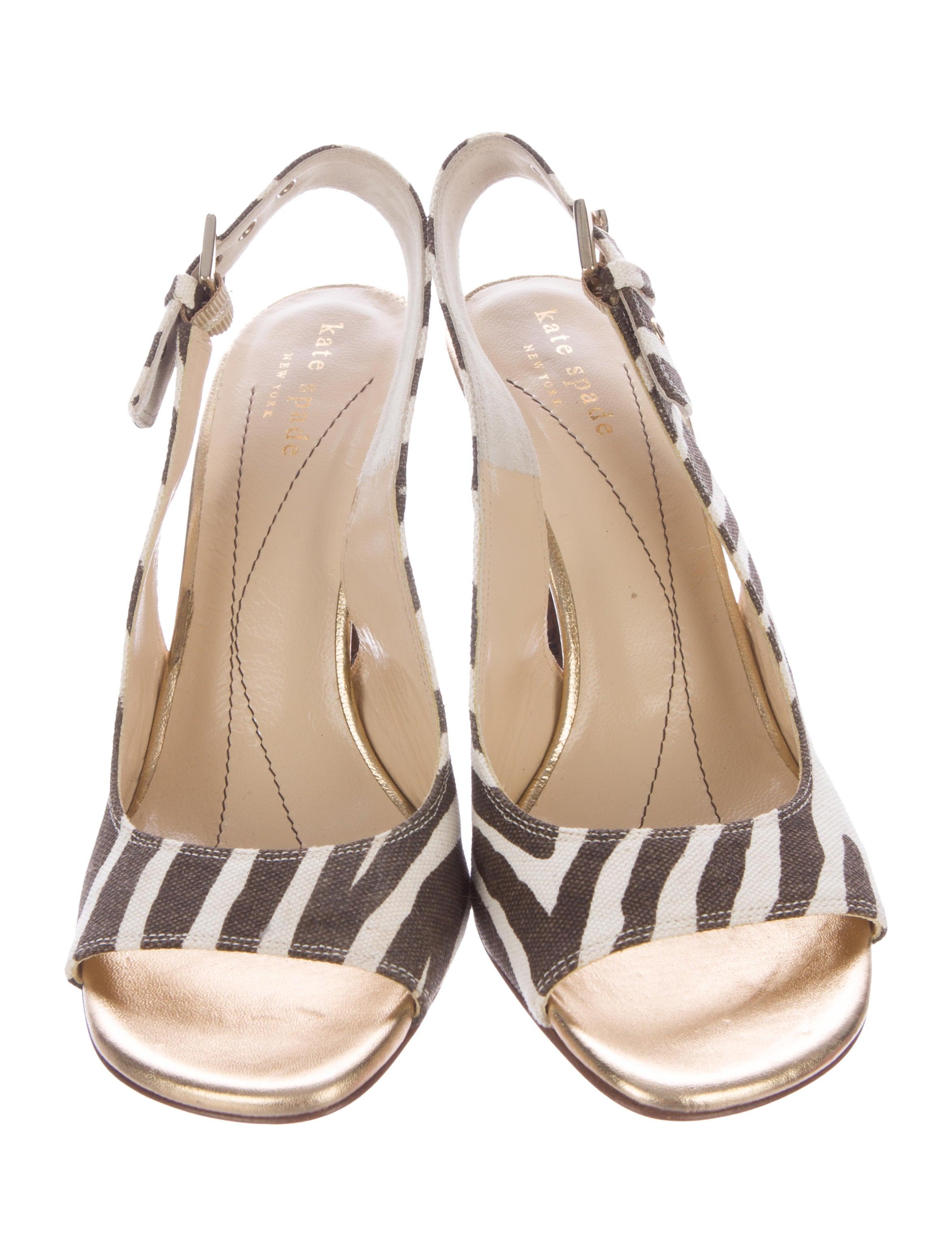 Kate Spade New York Slingback Zebra Sandals Shoes Wka45623 The Realreal