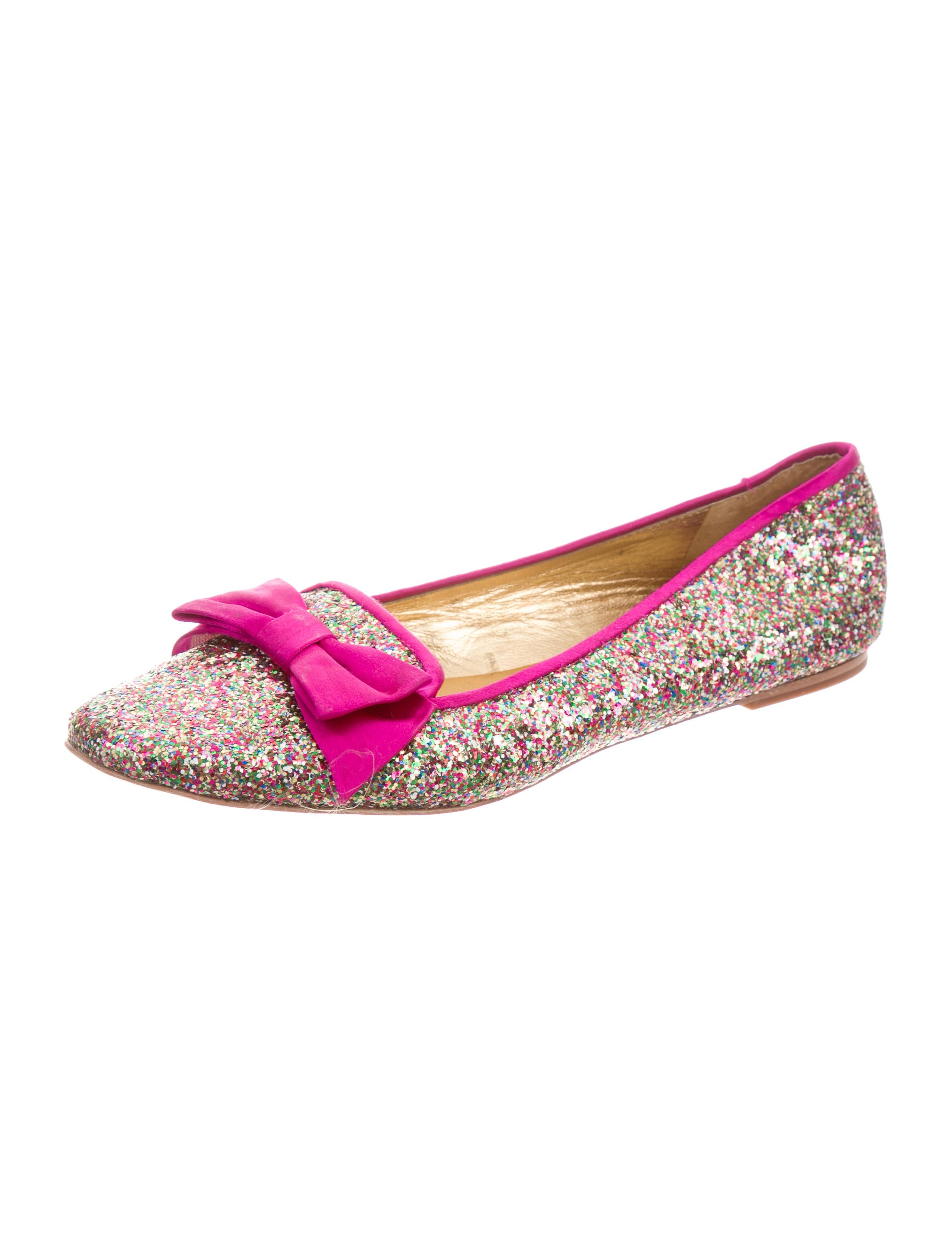 Kate spade new york glitter bow flats shoes wka45647 for Kate spade new york flats