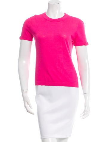 Kate Spade New York Rib Knit Short Sleeve Sweater None