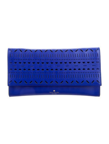 Lillian Laser-Cut Leather Clutch