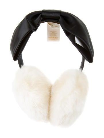 Satin Bow-Embellished Earmuffs w/ Tags