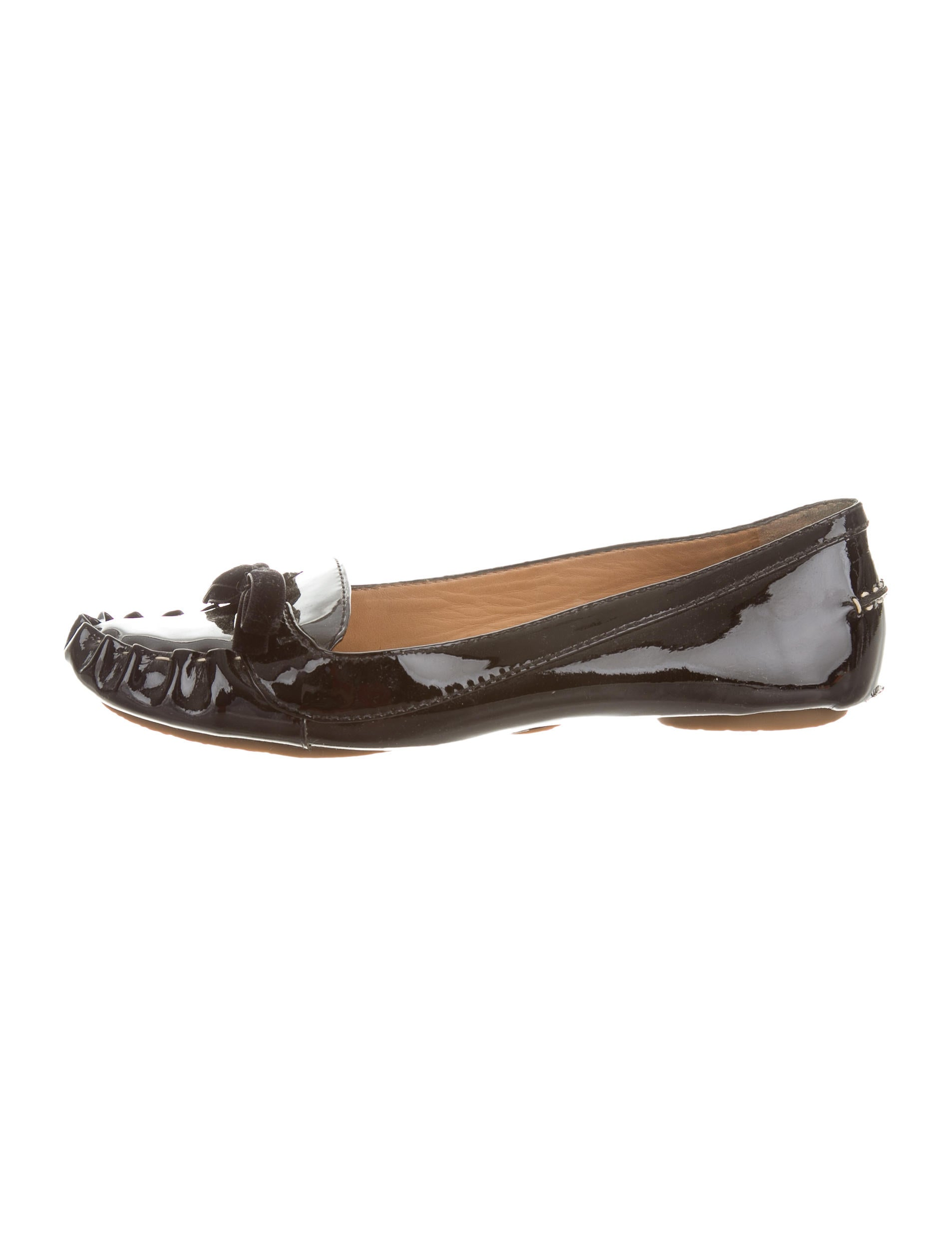 Kate spade new york patent leather round toe flats shoes for Kate spade new york flats