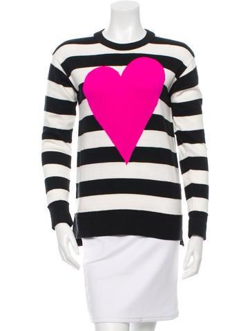 Heart Pattern Crew Neck Sweater