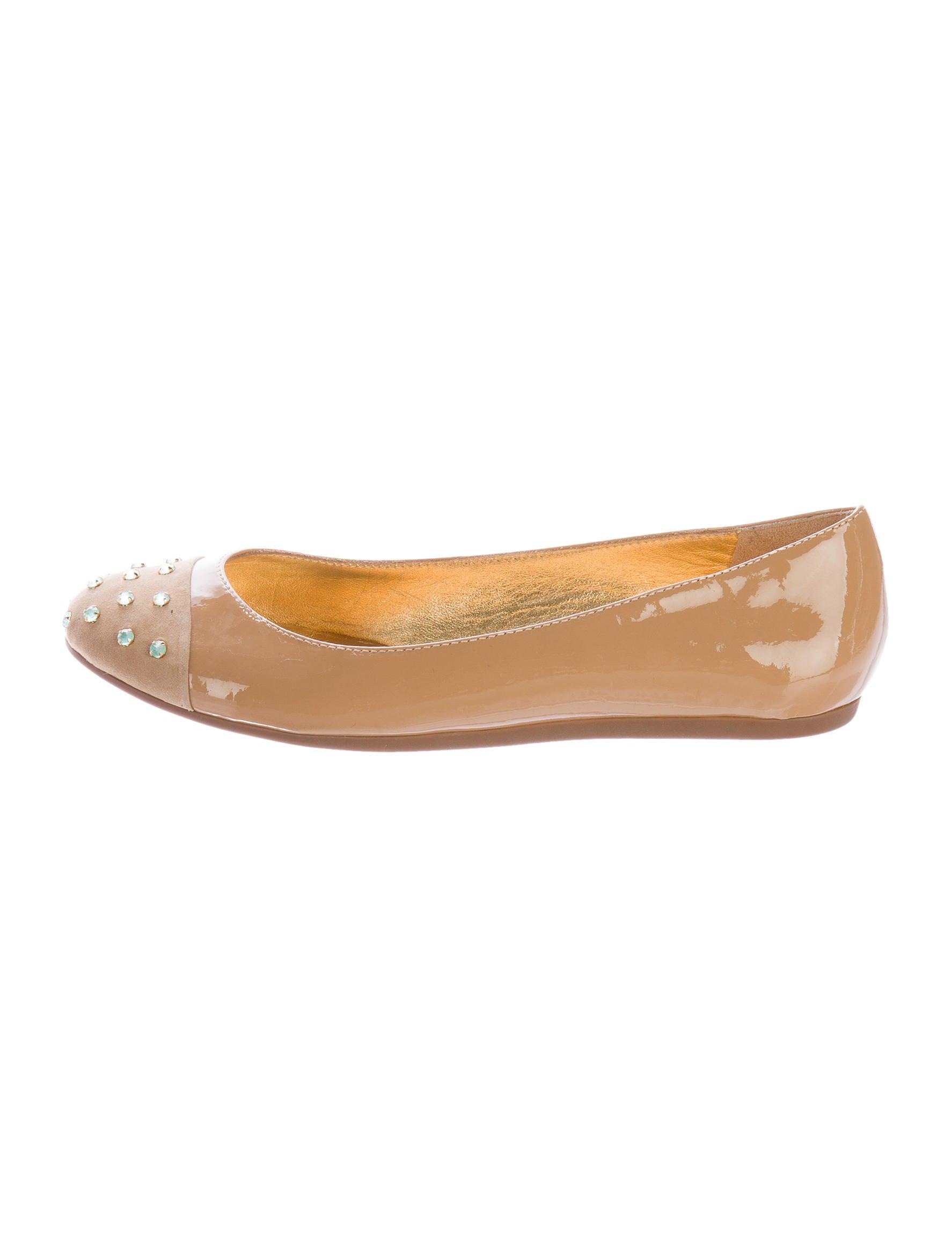 Kate spade new york patent leather cap toe flats shoes for Kate spade new york flats