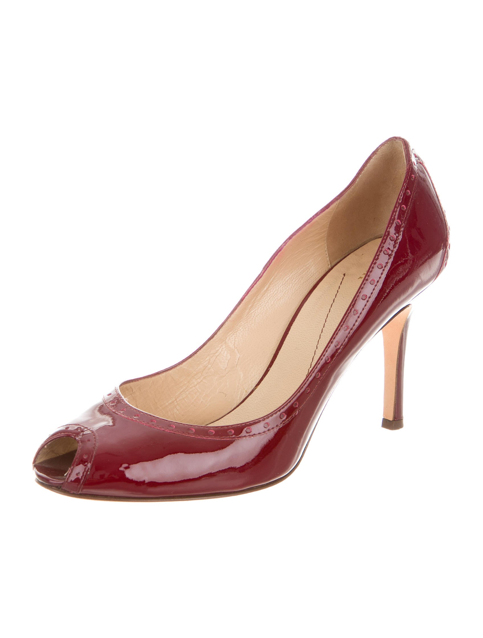 kate spade new york patent leather brogue pumps shoes