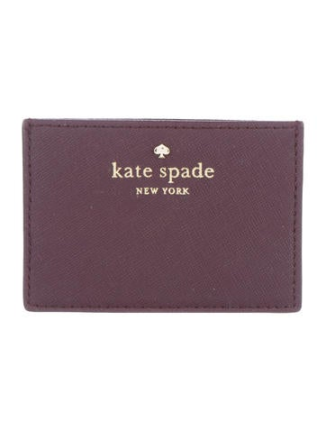 Kate Spade New York Saffiano Leather Card Holder None