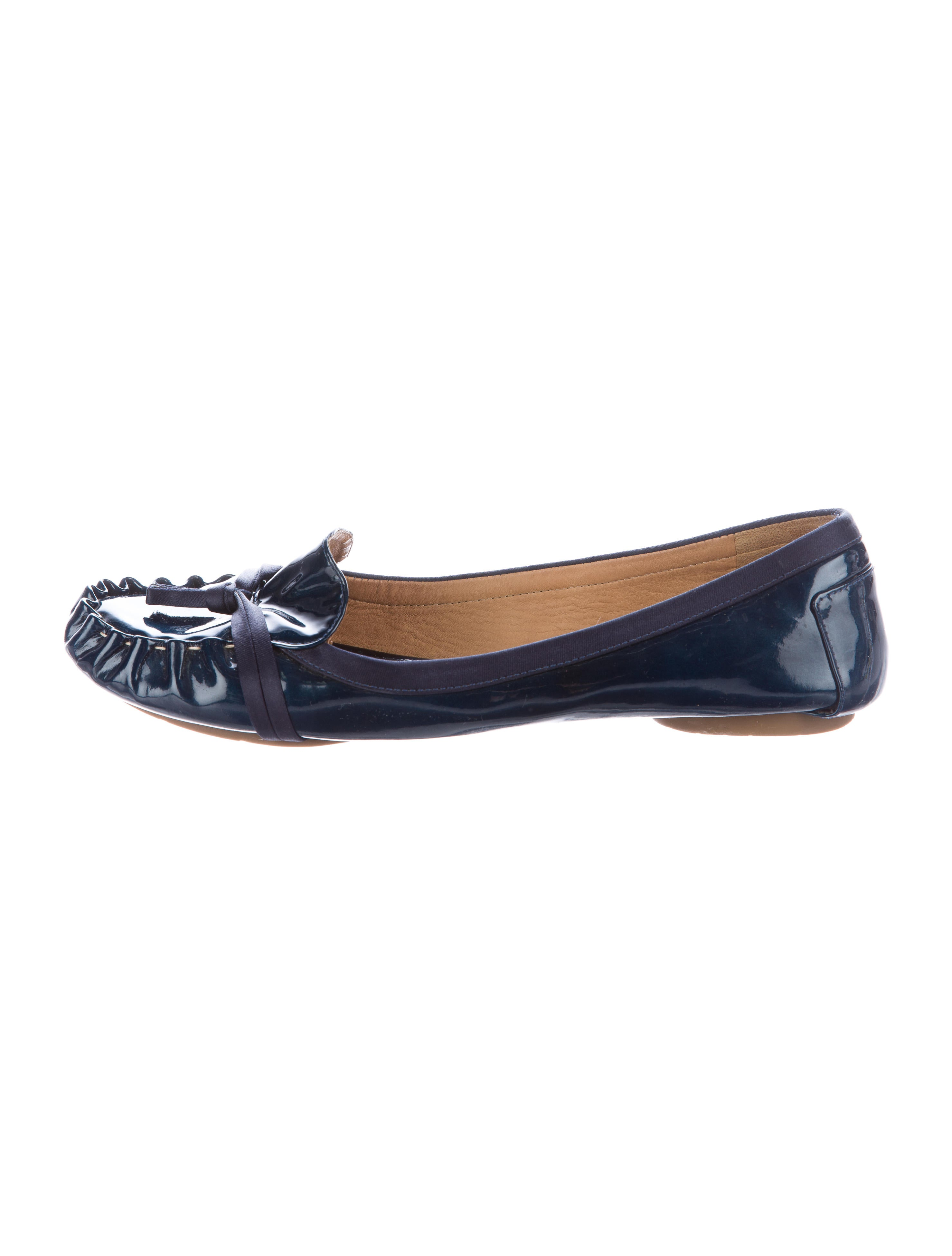 kate spade new york knot accented patent leather flats