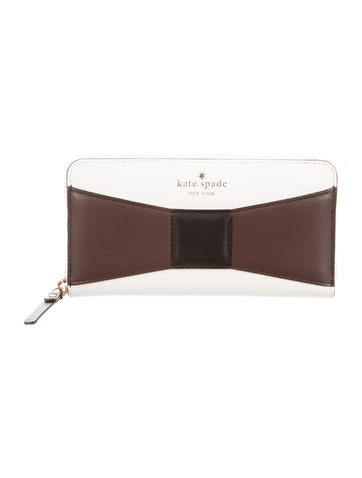 Kate Spade New York Leather Bow Wallet None