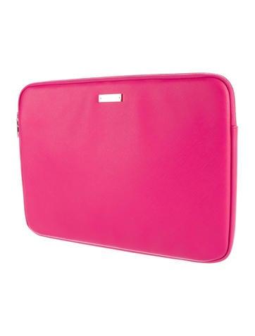 Crosshatch Leather Laptop Sleeve