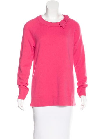 Kate Spade New York Bow-Accented Long Sleeve Sweater None