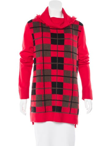 Kate Spade New York Plaid Turtleneck Sweater None