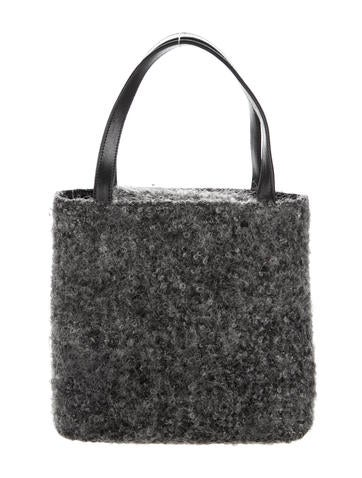 Wool Leather Handle Bag