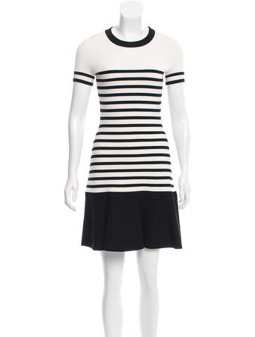 Kate Spade New York Striped Fitted Dress None