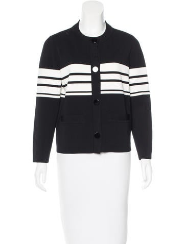 Kate Spade New York Striped Rib Knit Cardigan None