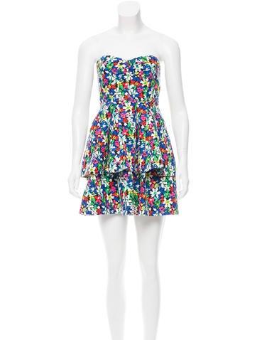 Kate Spade New York Floral Print Mini Dress