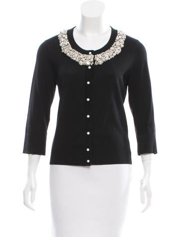 Kate Spade New York Embellished Knit Cardigan None