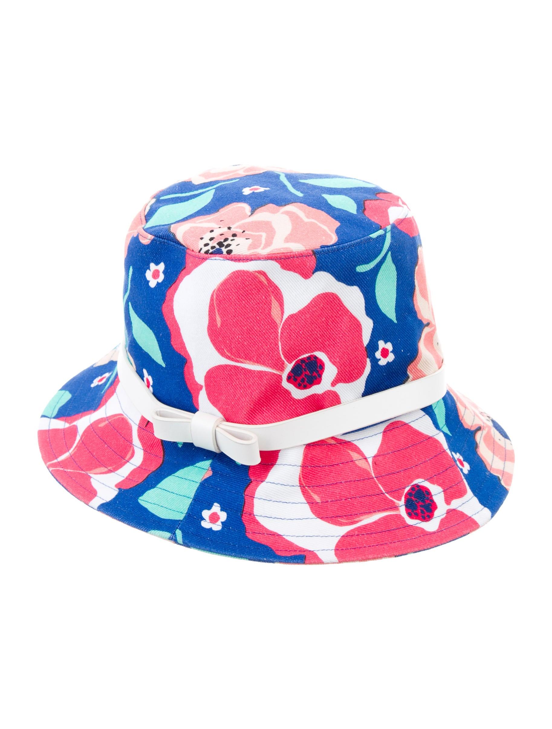 4db4b723588 Kate Spade New York Floral Bucket Hat - Accessories - WKA50962