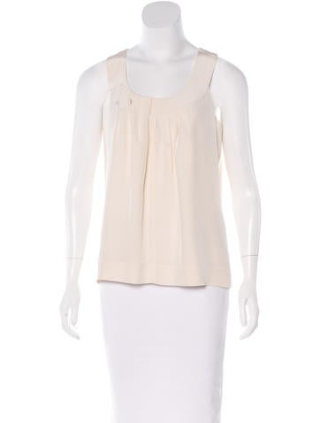 Kate Spade New York Sleeveless Silk Top None