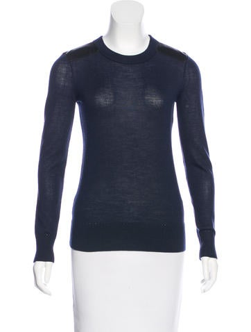 Kate Spade New York Wool & Leather Sweater None