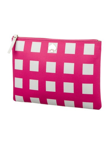 Coated Canvas Clutch