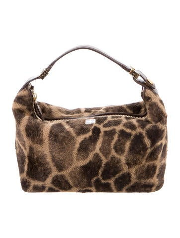 Giraffe Print Vegan Fur Bag