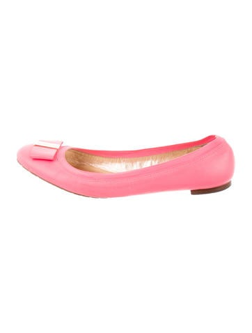 Kate Spade New York Leather Bow-Embellished Flats