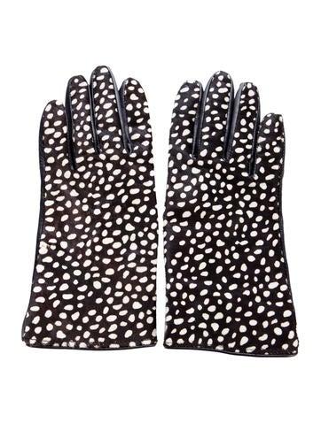 Kate Spade New York Ponyhair Printed Gloves