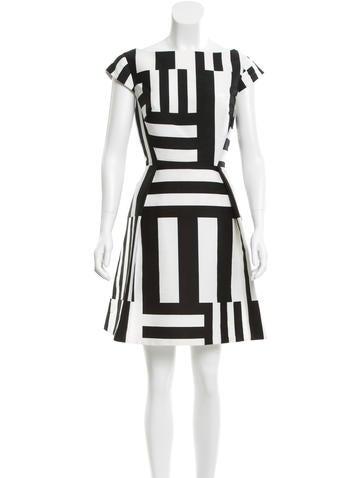 Kate Spade New York Striped Cutout Dress