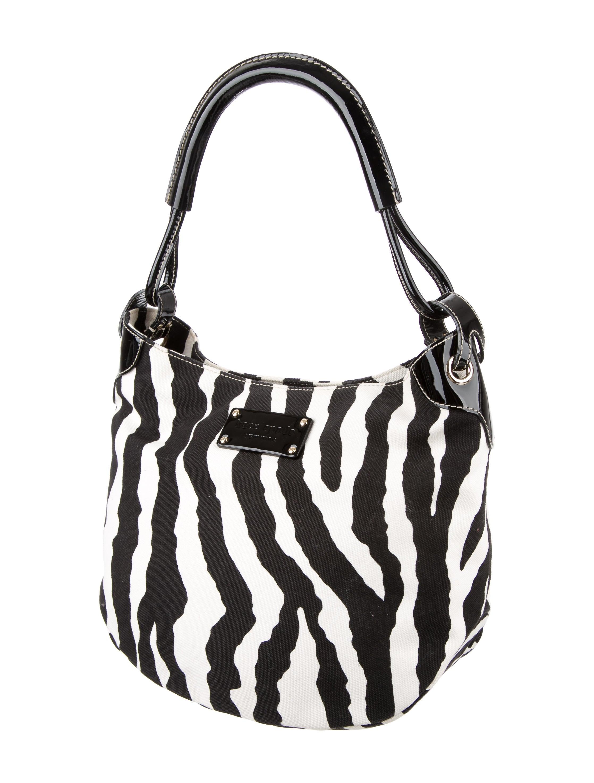 Kate Spade New York Zebra Print Canvas Hobo Handbags Wka53748 The Realreal