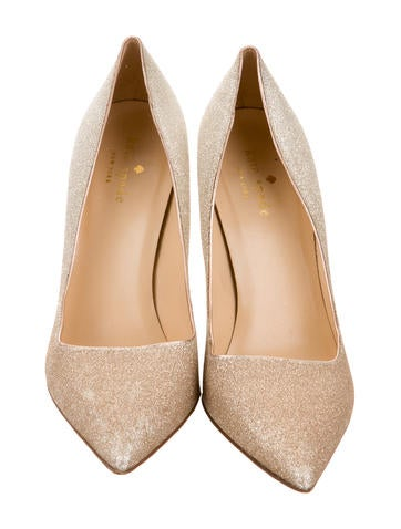 Glitter Pointed-Toe Pumps