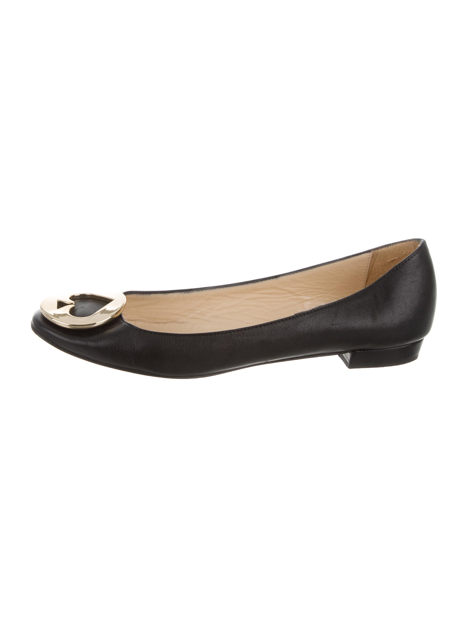 Kate spade new york leather logo flats shoes wka54549 for Kate spade new york flats