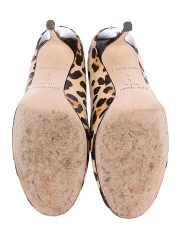 Leopard Ponyhair Pumps
