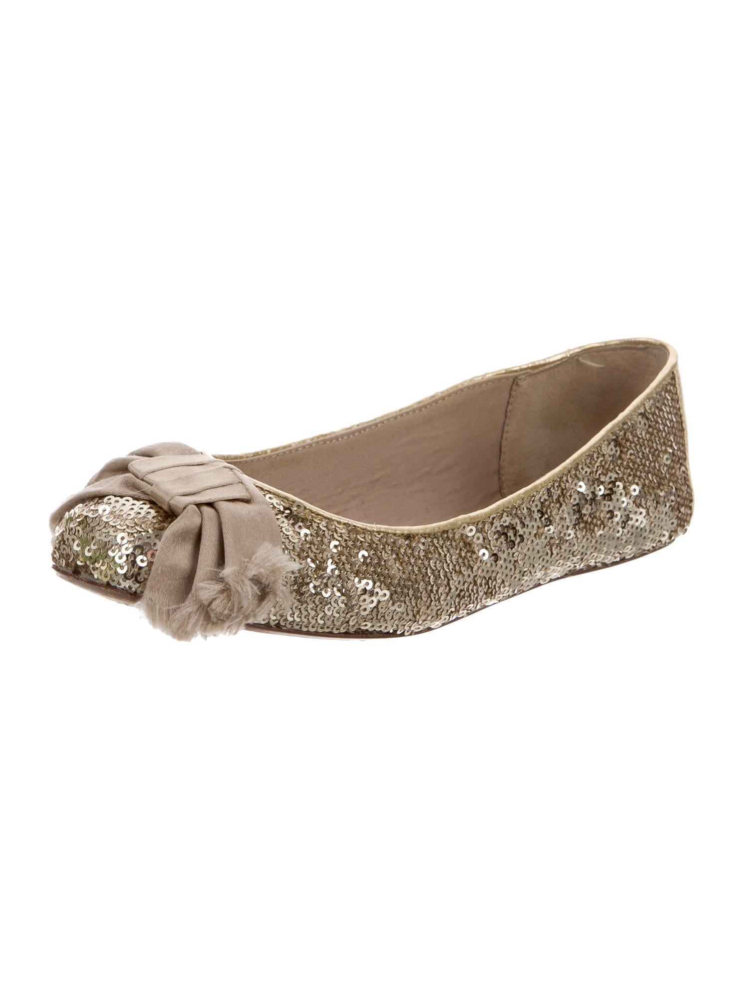Kate spade new york bow accented sequined flats shoes for Kate spade new york flats