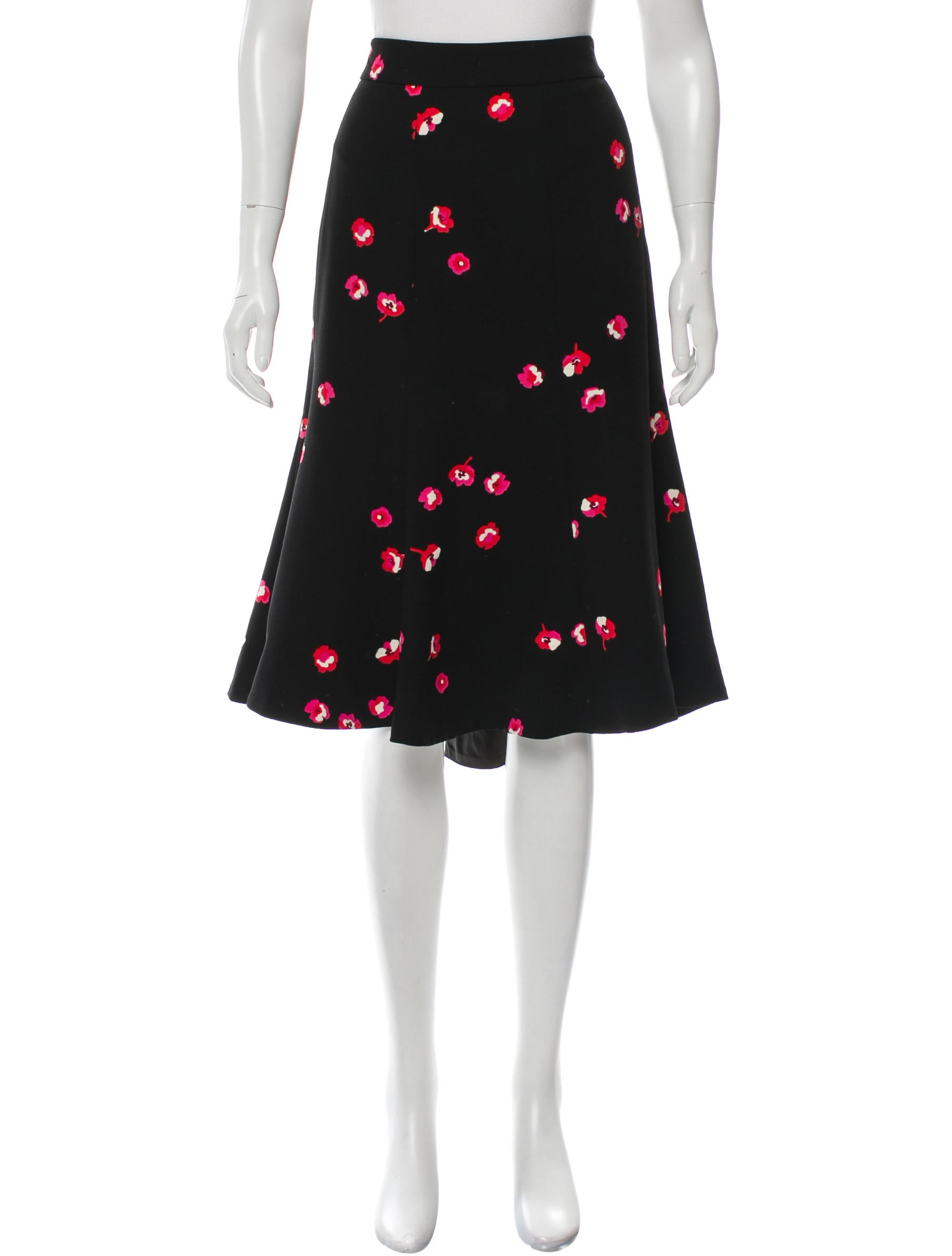 kate spade new york floral print knee length skirt