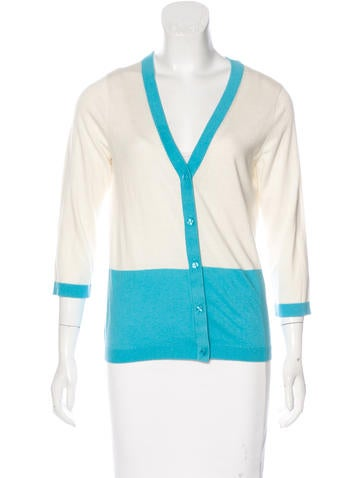 Kate Spade New York Silk-Blend Knit Cardigan None