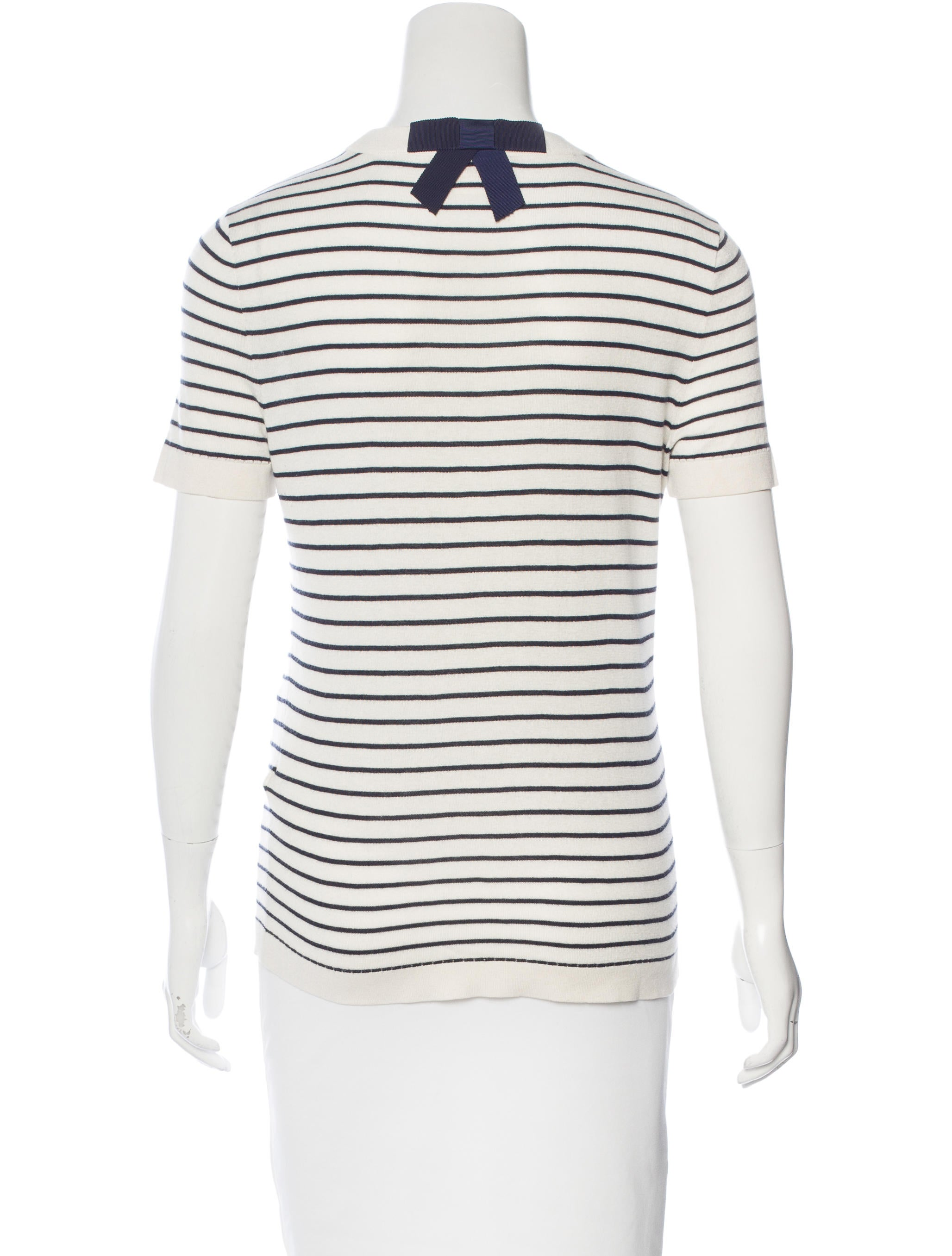 Kate spade new york silk striped top clothing wka56584 for Best dress shirts nyc