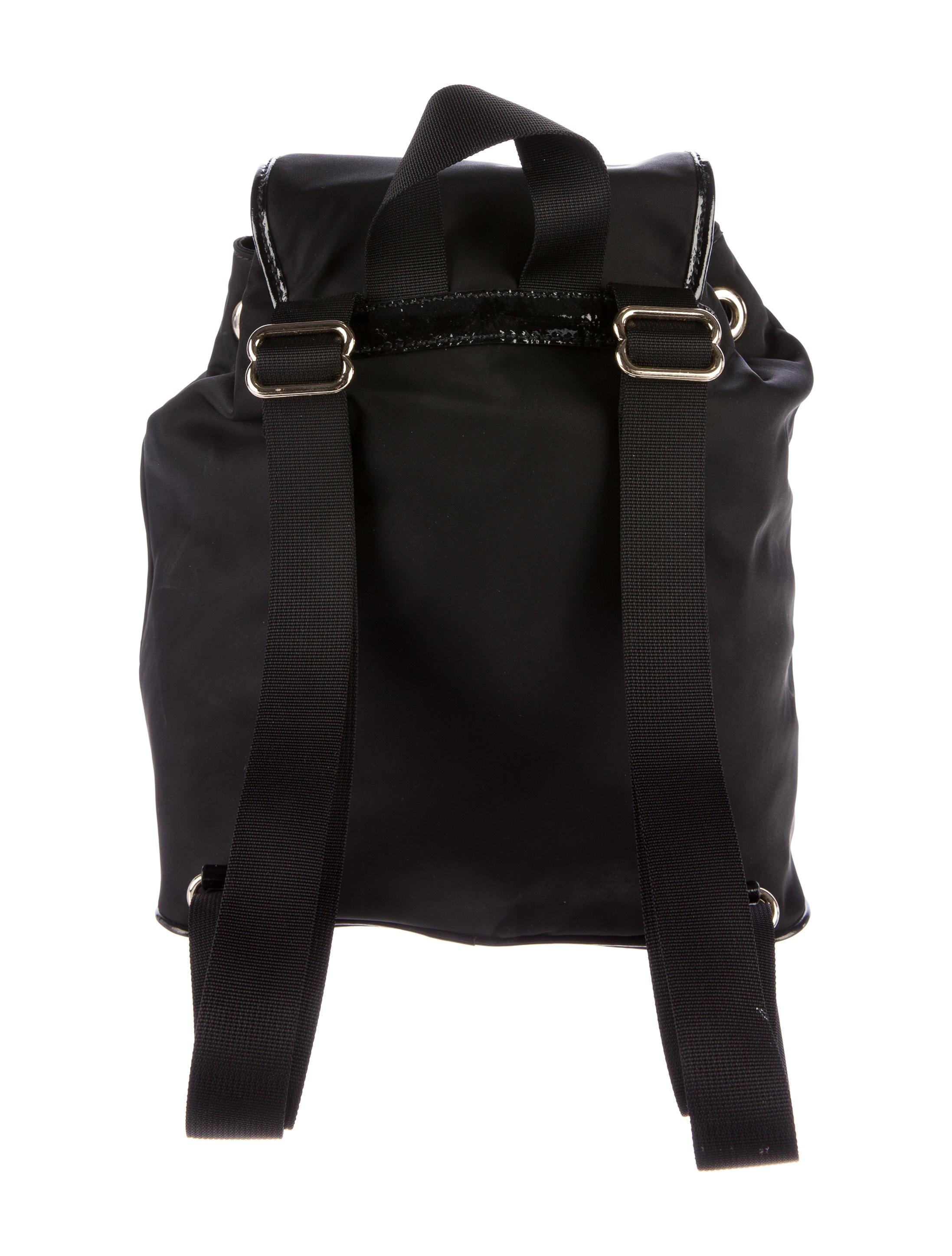 kate spade new york leather trimmed nylon backpack. Black Bedroom Furniture Sets. Home Design Ideas