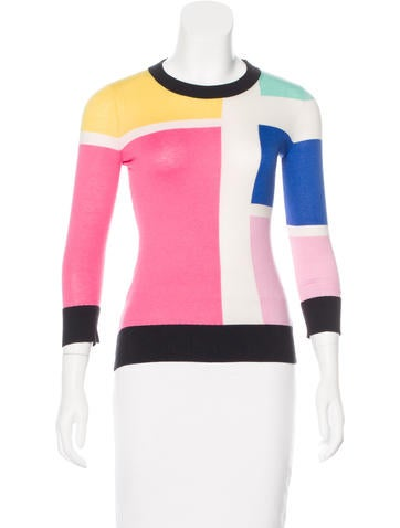 Kate Spade New York Colorblock Rib Knit Sweater None